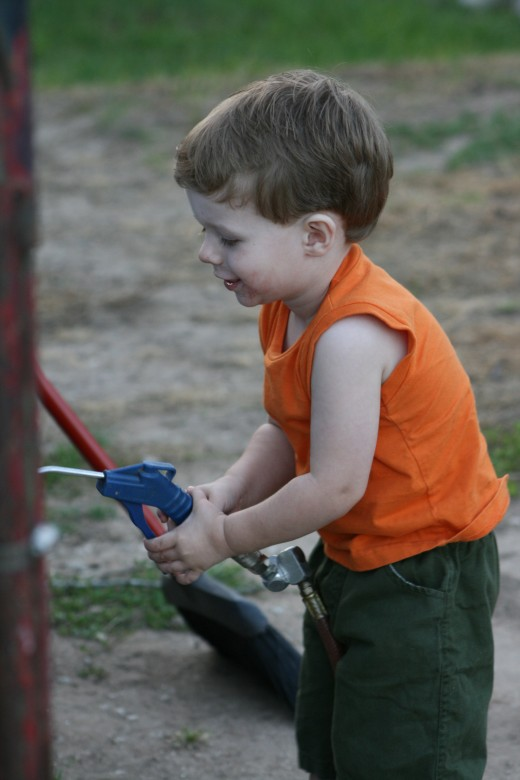 Watching a child experience and try new things-can show you a new appreciation for life