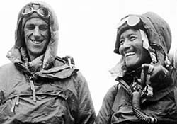 Today in History -- May 29, 1953: New Zealander Edmund Hillary and Nepalese Sherpa Tenzing Norgay became the first to reach the summit of Mount Everest on the Nepal-Tibet border. The duo reached the top of the world after a gruelling climb.