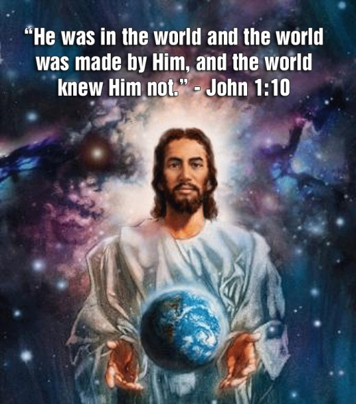 In the beginning was the Word and the Word was with God, and the Word was God... And the Word became flesh and dwelt among us. John 1:1 & 14.