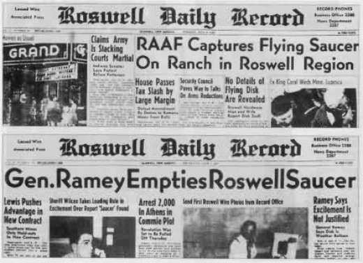 What do you think happened at Roswell New Mexico. Did the US Government cover up the crash of a alien spacecraft?