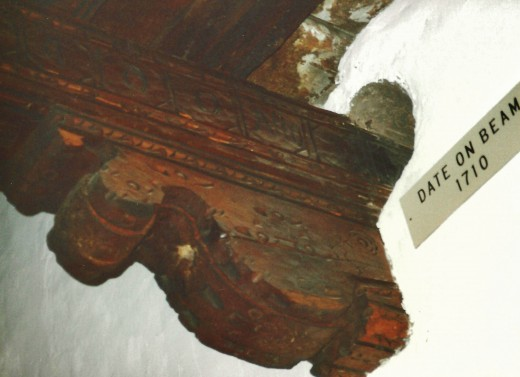 Look at the date on that beam inside of San Miguel Chapel!