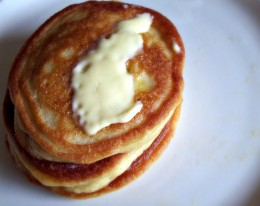 Coconut milk and coconut (or rice flour) pancakes are a stellar way to start the day gluten free!