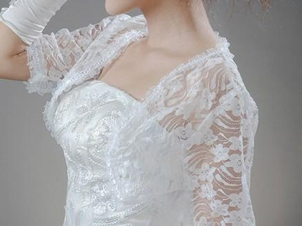2. lace wedding bolero