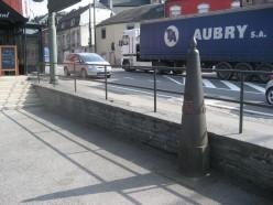 Border marker in Martelange between Belgium and Luxembourg