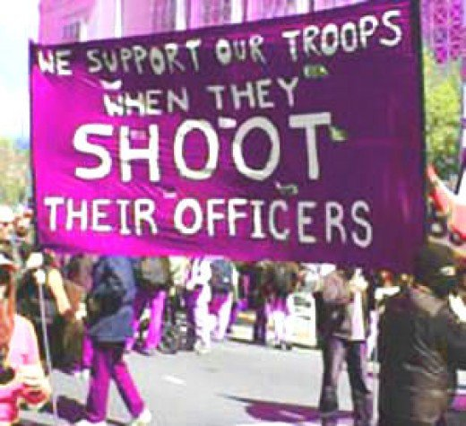 """Support our troops if they Shoot their Officers?"