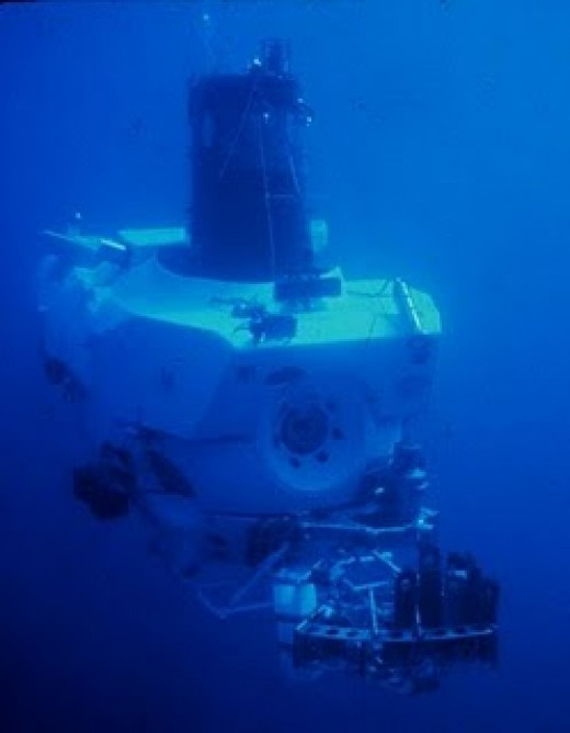 This is the DSV Alvin Submarine that the researchers used when they discovered the yeti lobster