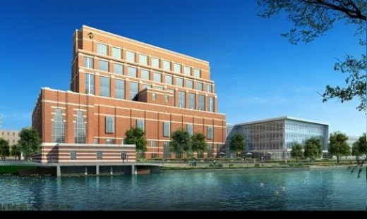 Artist rendering of completed project