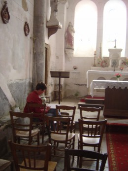 Drawing in the church at Saint Gervais 2010