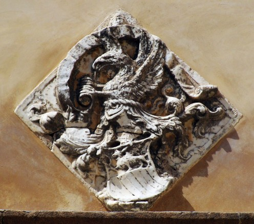15th Century Heraldry Griffin from Italy.Look at her child at the lower part of the sculpture.