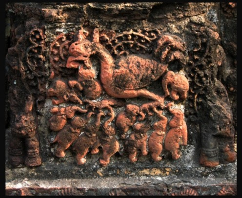 Based on Griffin's imagery.Shyam-Rai Temple.