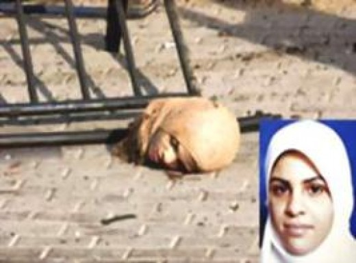 This girl's father cut off her head and left her head in the street
