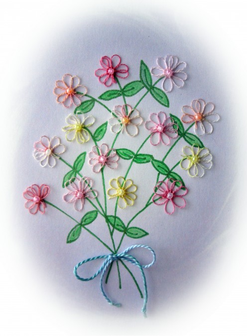 Craftlicious original design for Tatted Greetings Floral Collection. Got crafty spring fever!