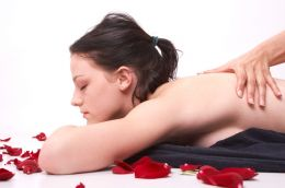 Aromatherapy oil massage girl