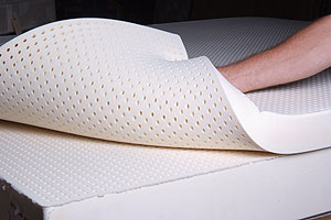 Latex Foam Showing Pinholes