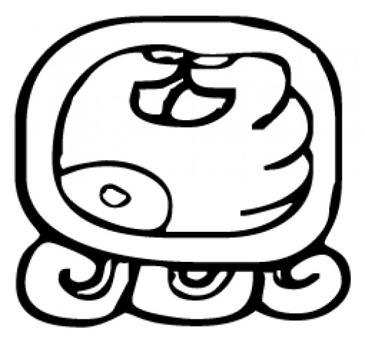 Manik is the day seven glyph for each month. The artist rendition has the appearance of a hand grasping a reed.