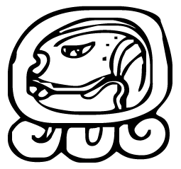 Eb is the twelfth day sign for the eighteen months. There are eight more of these glyphs for eighteen months
