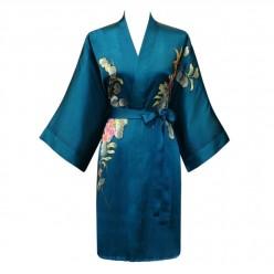 Short Silk Kimono Robe – Buy A Hand Painted Silk Kimono