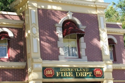 Exterior view of Walt's apartment, just above the Main Street Fire Department.