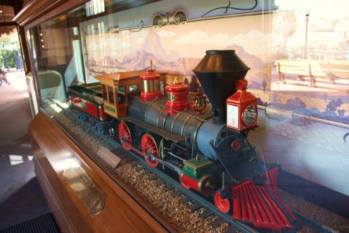 The scale model Lilly Belle is on display inside the Main Street Train Station.
