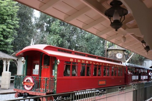 Look for the bright red caboose on your next Disneyland visit. If you get the opportunity, ask the conductor for a ride!