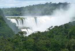 Iguazu Falls on the Brazil side