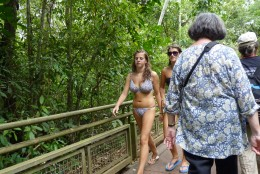 This bikini clad girl is going for a boat ride! We learned our lesson the hard way, next time we bring our bathing suits!