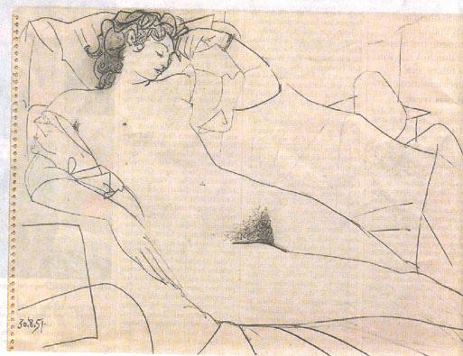 Odalisque - Pablo Picasso