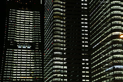Skyscrapers … every light blazing.
