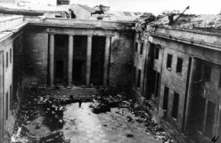 Ruins of the Reichchancellery in Berlin in 1945