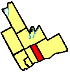 Map loaction of Oshawa, in Durham Region, Ontario