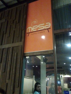 Dining in MESA, Filipino Moderne, Greenbelt 5
