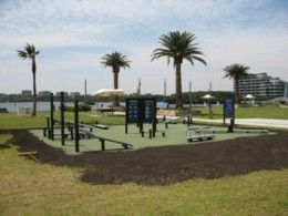 A great outdoor set up in Homebush Bay, Australia (Sydney) and perfect for a suspension trainer.