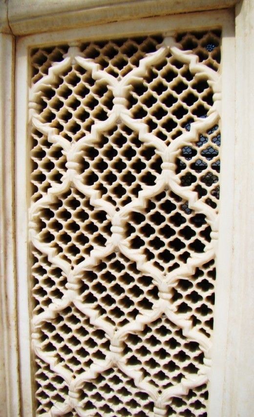 Lattice work in marble