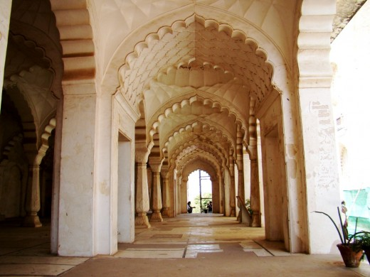 The corridor of the adjacent mosque