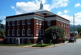 The Andrews Art Museum is located on the mezzanine floor of the Valley Town Cultural Arts Center, on Chestnut Street in Andrews, NC