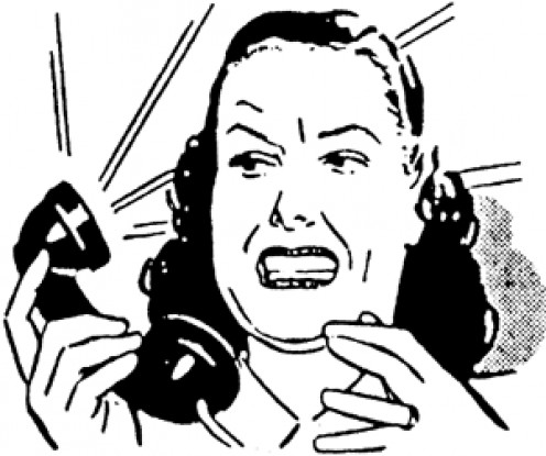 Ummm. I think by this lady's face, you are calling too much. Hang up the phone...