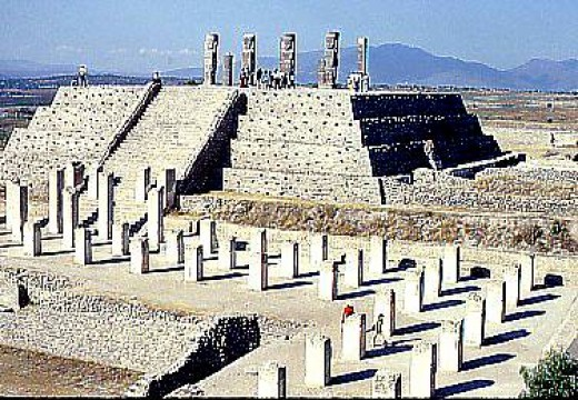 The temple-pyramid of the warriors in Tula Hildalgo is the centerpiece of distinct Toltec culture as it was at its height.