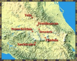 This is considered to be the territory of the Toltec during the height of its civilization.