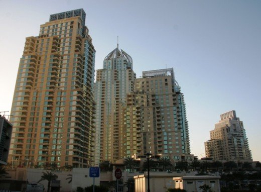 Dubai Marina is full of high rise apartments