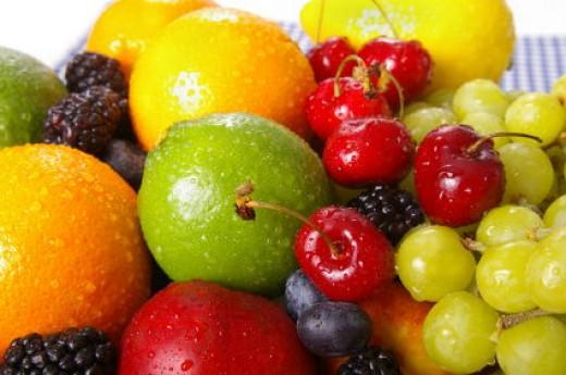Pic of high fiber fruits