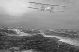 ALCOCK AND BROWN FLY ACROSS THE ATLANTIC OCEAN