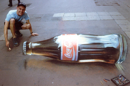 A 3D illusion. Image from http://www.optical-illusions.in/