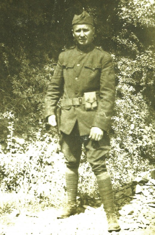 Picture of my grandfather in uniform during World War 1.