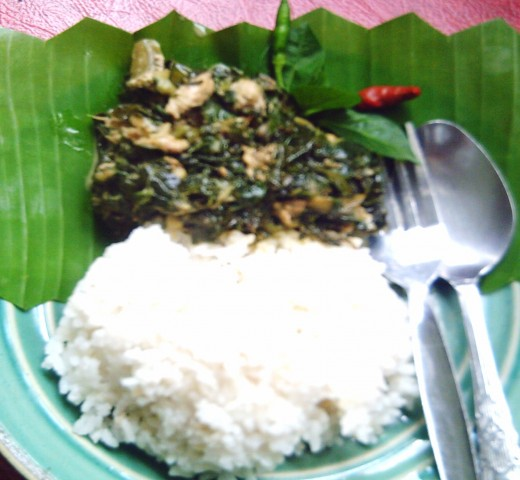 LAING with rice (Photo by Travel Man)