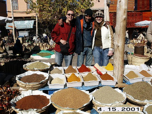 Spices Vendor, Marrakesh's Market or Souq, Morocco.