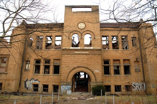 Abandoned Detroit Public School