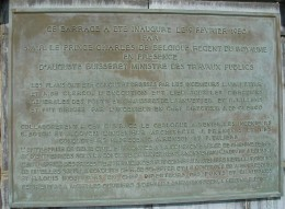 Plaque from the Weser Valley Dam inauguration