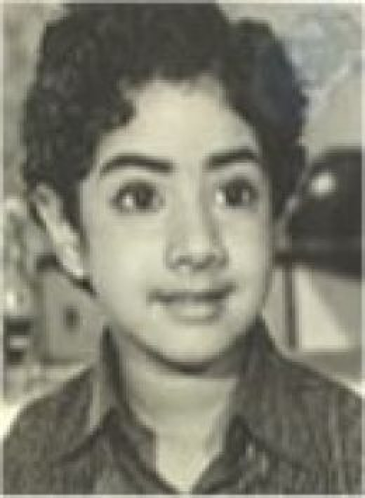 She is Sreedevi. The south Indian actess who had grown to Bollywood.: vinner.hubpages.com/hub/Cute-childhood-photos-of-actors