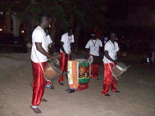 Senegalese drummers in Sal, Cape Verde