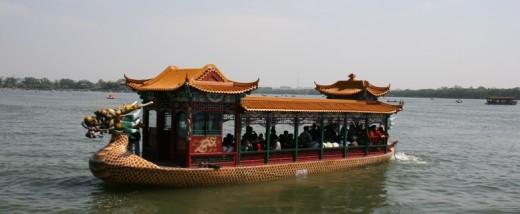 A Dragon Boat at the lake at the Summer Palace